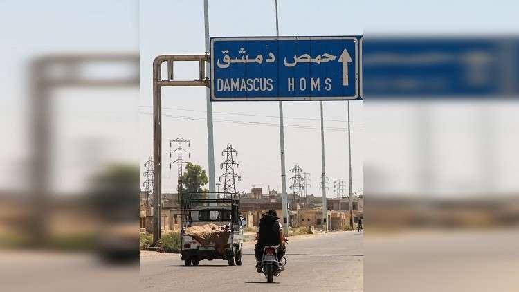 شمرا أخبار - حادث مروري مروع على طريق حمص- دمشق