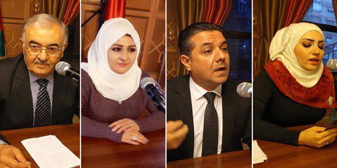 أدباء من دير الزور يحضرون بقصائد وقصص عن المرأة والوطن في ثقافي الميدان