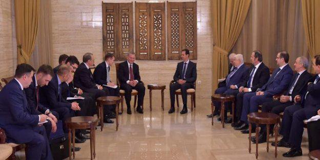 الرئيس الأسد يستقبل وفداً حكومياً روسياً