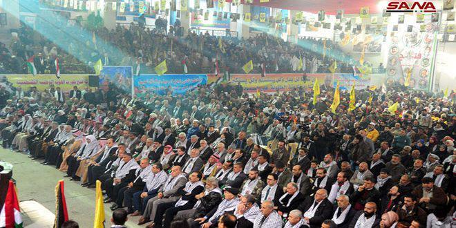 في ذكرى انطلاقتها… حركة فتح: انتصار سورية انتصار لفلسطين