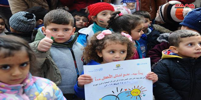 الصحة العالمية تؤكد استمرار دعم جهود وزارة الصحة للحفاظ على سورية خالية من شلل الأطفال