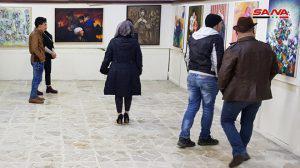بريشة 12 فناناً معرض (تحية وداع) للتشكيلي الراحل خلف الحسيني