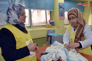 جهود متواصلة في حماة للوصول إلى كل المناطق ضمن حملة اللقاح الوطنية ضد شلل الأطفال