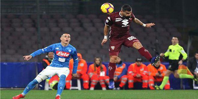 نابولي يتعادل سلبا مع تورينو في الدوري الإيطالي