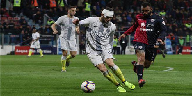 انتر ميلان يخسر أمام كالياري في الدوري الإيطالي بكرة القدم