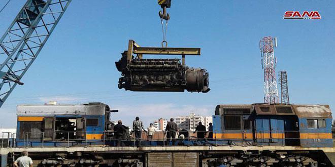 المؤسسة العامة للخطوط الحديدية تستعيد نشاطها.. صيانة 122 كيلومتراً على محور حمص-دمشق