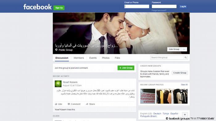 Facebook Screenshot - Syrisch Heiraten in Europa (facebook/groups/711177169013346/)