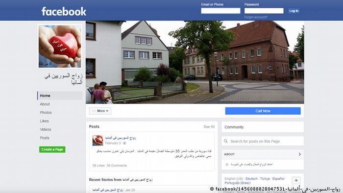 Facebook Screenshot - Syrier in Deutschland zu Hause (facebook/1456088828047531-زواج-السوريين-في-ألمانيا)