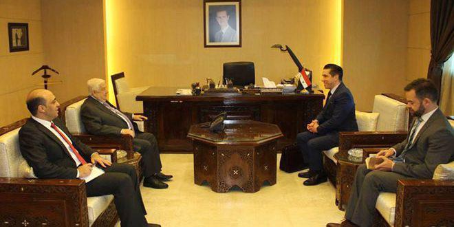 المعلم يتسلم نسخة من أوراق اعتماد سفير البرازيل الجديد لدى سورية