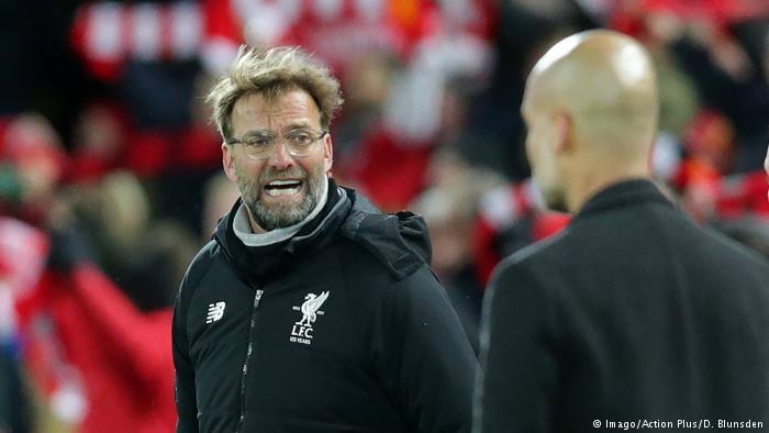 Fußball Trainer Jürgen Klopp und Pep Guardiola (Imago/Action Plus/D. Blunsden)