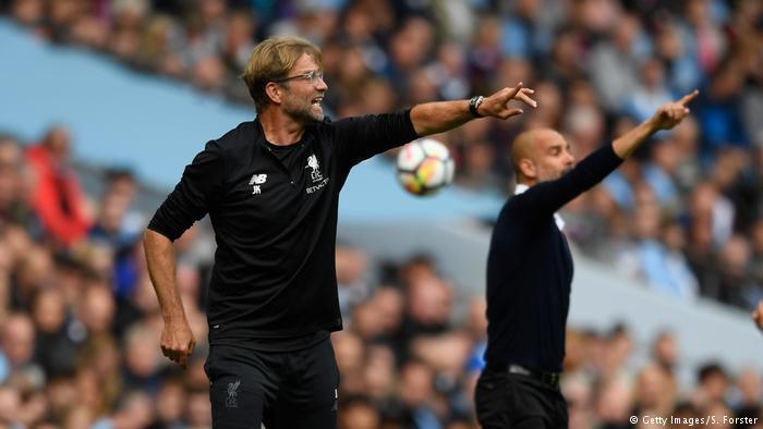 Fußball Trainer Jürgen Klopp und Pep Guardiola (Getty Images/S. Forster)