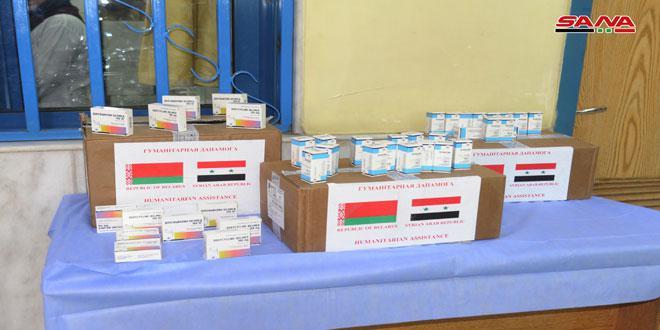 وزارتا الصحة والتربية تتسلمان مستلزمات مدرسية وأدوية من جمهورية بيلاروس