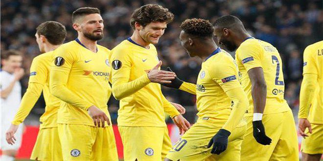 تشيلسي يهزم دينامو كييف بخماسية ويتأهل لربع نهائي الدوري الأوروبي