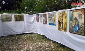 افتتاح معرض حرفي وتشكيلي في مهرجان الشيخ صالح العلي