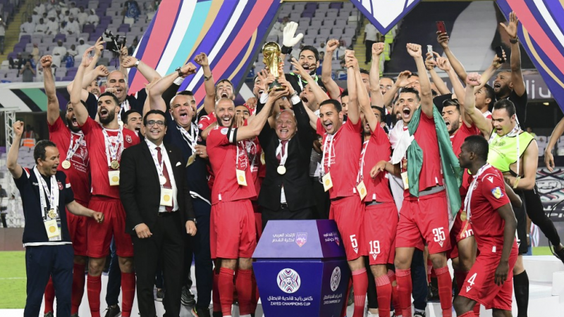 توِّج النجم الساحلي بلقب كأس البطولة العربية للأندية الأبطال للمرة الأولى (أ ف ب)