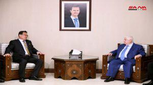 المعلم لنائب وزير خارجية كوريا الديمقراطية: نقدّر مواقف بيونغ يانغ الداعمة لسورية