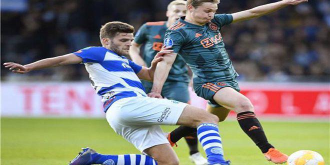 أياكس يفوز بلقب الدوري الهولندي للمرة 34
