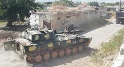 بالفيديو... الجيش السوري يقتحم معاقل جبهة النصرة في (الحويز) بريف حماة