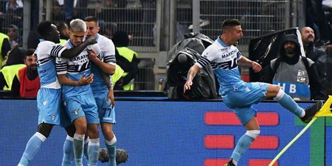 لاتسيو يحرز لقب كأس إيطاليا بكرة القدم