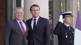 ملك الأردن والرئيس الفرنسي يبحثان مستجدات الوضع في الشرق الأوسط