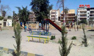 بعد إعادة تأهيلها.. افتتاح حديقة الأشعري في حي العرفي بدير الزور