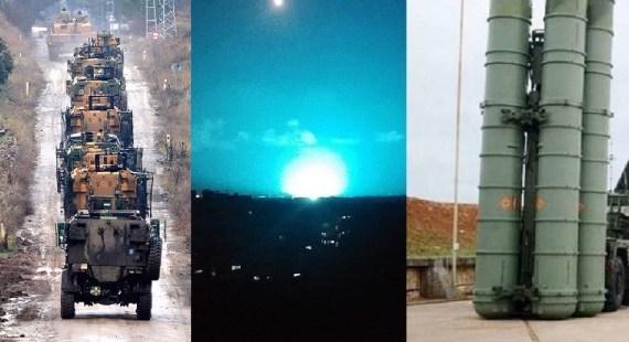 """وميض غامض في """"اللاذقية"""".. """"تركيا"""" تحشد على الحدود ..""""سوريا"""" لا تهمها صواريخ إس 400!"""