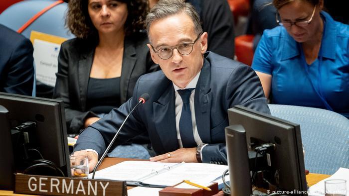 USA New York | Heiko Maas beim Sicherheitsrat der Vereinten Nationen (picture-alliance/dpa/K. Nietfeld)