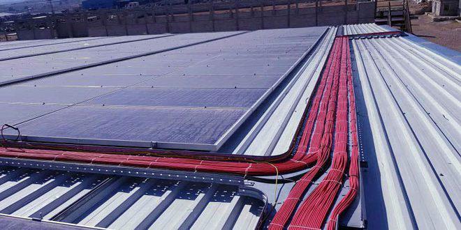 باستطاعة 500 كيلو واط ساعي.. تشغيل أكبر محطة للطاقة الشمسية في حمص لتوليد الكهرباء