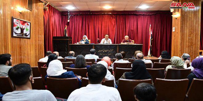 نادي الأدباء الشباب في ثقافي أبو رمانة يحتفي بالشاعر توفيق أحمد