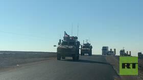 مغادرة قافلة أمريكية تعرضت أمس لقصف شمال شرقي سوريا إلى كردستان العراق (صور+فيديو)