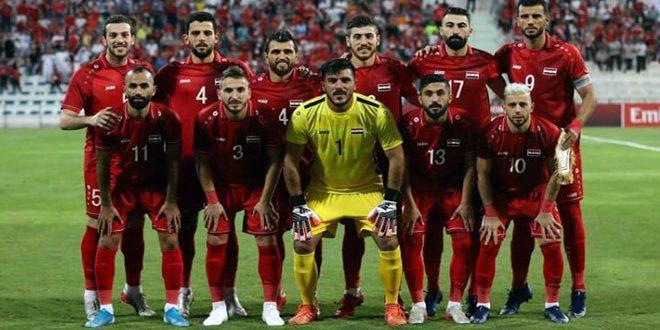 الإعلان عن القائمة النهائية لمنتخب سورية لكرة القدم للقاء الصين والفلبين
