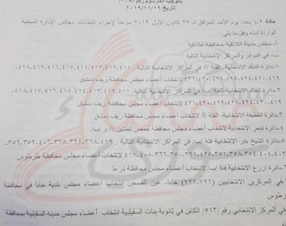 بعد المرسوم الرئاسي.. سوريا تشهد انتخابات في الشهر الجاري