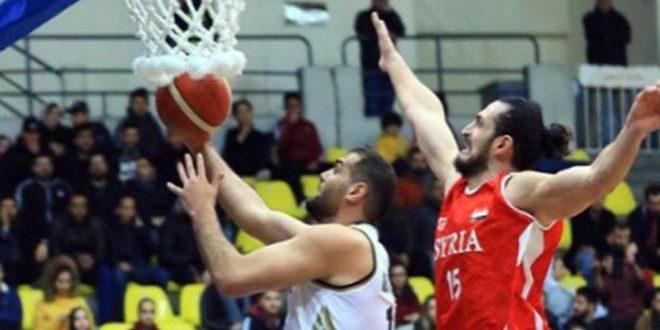 منتخب سورية لكرة السلة يلتقي نظيره اللبناني في بطولة الأردن الدولية