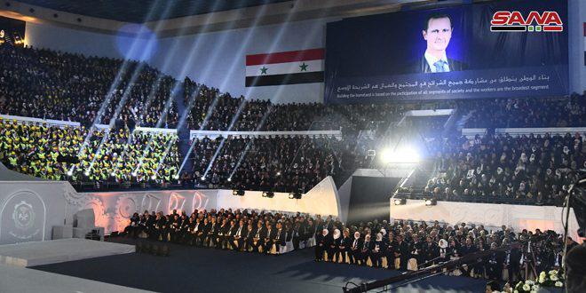 عدد من رؤساء الاتحادات العمالية العربية لـ سانا: ندعم سورية في صمودها بوجه الحرب الإرهابية ونضال عمالها