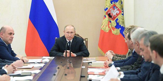 بوتين يبحث مع أعضاء مجلس الأمن الروسي الوضع في إدلب