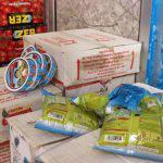مصادرة مواد غذائية تركية مهربة في أحد المستودعات بدير الزور