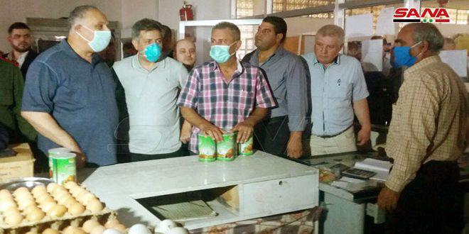 البرازي خلال تفقده صالات السورية للتجارة في القنيطرة: تشديد دوريات الرقابة قبيل عيد الأضحى