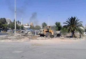 محافظة دمشق تنفذ حلاً مرورياً عند تقاطع كراجات العباسيين