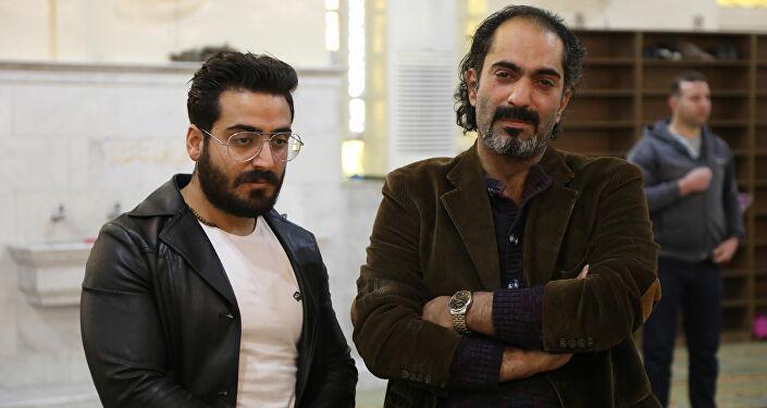 من جنازة المخرج السوري الراحل حاتم علي في دمشق