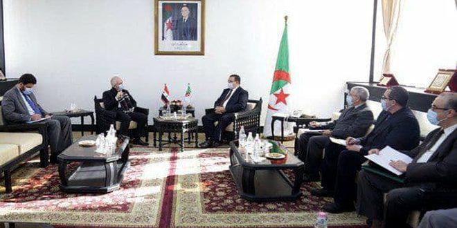 مباحثات سورية جزائرية لتعزيز التعاون المشترك بين البلدين في مجال العمل والتشغيل