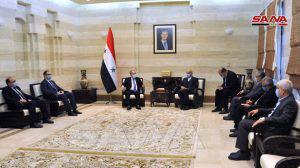 المهندس عرنوس يبحث مع رئيس الجانب الإيراني في غرفة التجارة السورية الإيرانية دور القطاع الخاص في تطوير التعاون الاقتصادي بين البلدين
