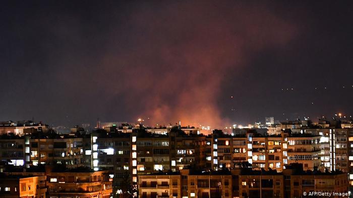 غارة جوية إسرائيلية تستهدف دمشق في حزيران 2020