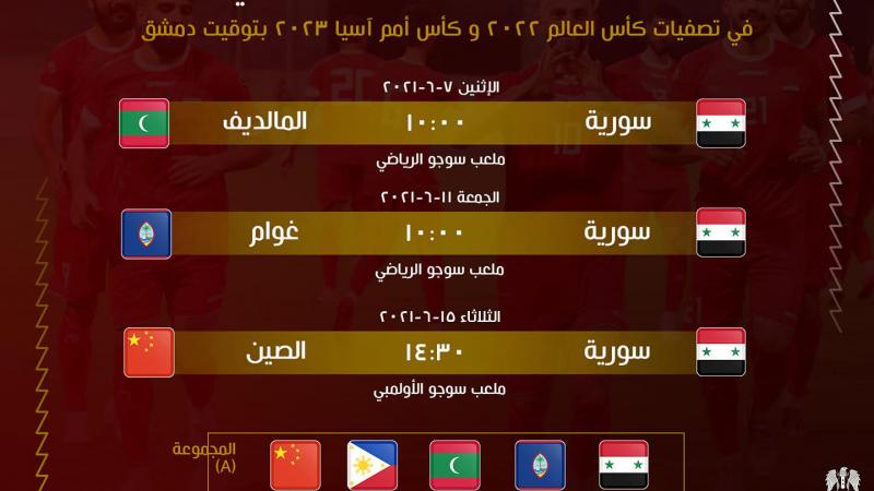 جدول مباريات منتخبنا الوطني بكرة القدم.. في تصفيات كاس العالم
