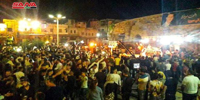 غرفة صناعة دمشق وريفها تقيم حفلاً فنياً في جبلة بمناسبة فوز الدكتور بشار الأسد بالانتخابات الرئاسية