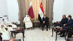 بيان قطري حول قمة تميم-السيسي في بغداد