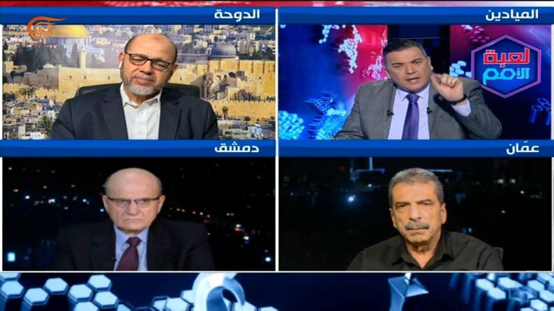 عدد من القيادات الفلسطينية في برنامج لعبة الأمم.