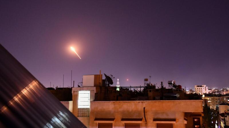 صورة أرشيفية لعدوان إسرائيلي في سماء سوريا.