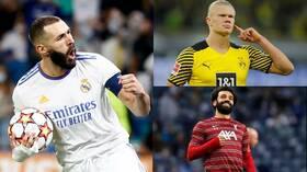 ريال مدريد يبرز تفوق بنزيما على هالاند وصلاح