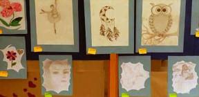 أكثر من 82 لوحة لأطفال في معرض بثقافي جبلة