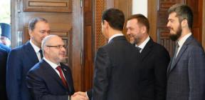 الرئيس الأسد يستقبل وفداً من حزب روسيا الموحدة